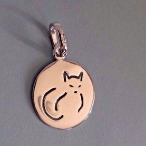 925 SILVER CAT PENDANT TAG CHARM COLLAR FINE JEWELRY FREYAS CAT RESCUE LOGO