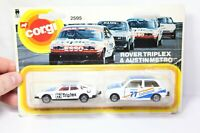 Corgi 2595 Rover Triplex & Austin Metro Carded - New Unopened In Box 1982
