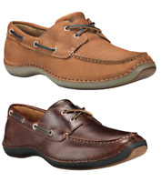 Timberland Mens  Annapolis Handsewn Leather Boat Shoes Smooth Brown / Med Brown