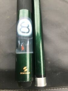 Pool Stick Crest 8 Ball With Snake Green Sportcraft L1
