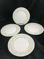 Vintage CHRISTINE Porcelain Daisy Pattern Set of 4 Dessert Plates
