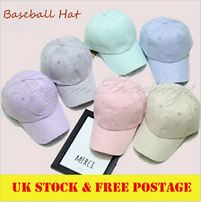 Men Women's Suede Baseball Cap Snapback Visor Sport Sun Adjustable Size UK