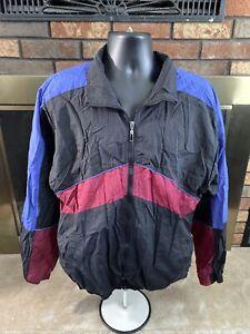 Vintage Sun River Clothing Co Colorblock Windbreaker Track Suit Men's Sz Large