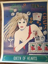 "Pat Clark Signed Pop Art Print Poster, ""Queen of Hearts"" 2 of 950"