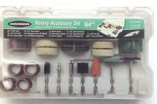 for Flex Shaft-Handheld Rotary Tools-Free Ship! New 64 pc Rotary Accessory Set
