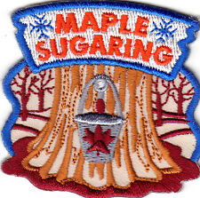 """""""MAPLE SUGARING""""- SYRUP - FOOD - PANCAKES - Iron On Embroidered Patch"""
