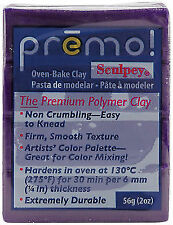 Purple 2oz Block Sculpey Premo Polymer Oven Bake Modelling Craft Clay 57g