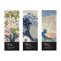 DMC British Museum Bookmark Kits- Great Wave,  When Winter Wanes, Cherry Blossom