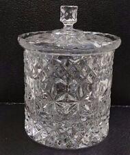 """High Quality Heavy Cut 24% Lead Crystal 6"""" Glass Lidded Jar 171086"""