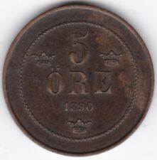 More details for 1890 sweden 5 ore | pennies2pounds