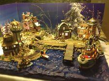 christmas Village Display Platform Ocean Scene For  Lemax, Dept 56 Villages