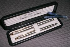 Parker 180 Flighter Deluxe GT Fountain and Pencil Set in Box E date code