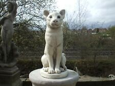 LARGE SITTING SIAMESE TYPE CAT CATS STONE GARDEN SCULPTURE STATUE