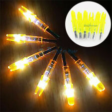 6PCS Nocturnal-S Model-S Yellow LED Lighted Nocks For Compound Bow Arrow 6.2mm