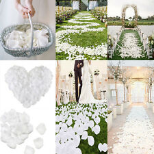 1000Pcs White Simulation Rose Petals Wedding Party Table Confetti Decorations