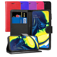 """For Samsung Galaxy A80 6.7"""" Case - Magnetic Leather Wallet Flip Case Folio Cover"""