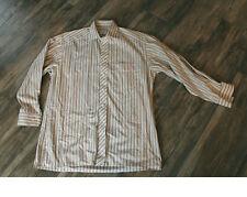 Gestreifte maschinenwäschegeeignete klassische Herrenhemden mit Kentkragen Olymp