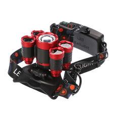 CREE 5*LED T6 Headlight High Power Zoom Headlamp LED Head Light Red