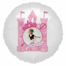 "23"" Happy Birthday Pink Princess Personalised Photo Foil Balloon Gift Present UK"