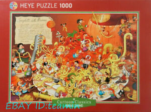Heye Cartoon Conquest Spaghetti 1000 piece Adult Stress Relief Puzzles Toys New
