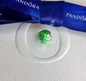Authentic Genuine Pandora Green Enamel Butterfly Butterflies Charm #790438EN03