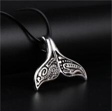 New Style Whale Tail Fish Charm Necklace Punk Stainless Steel Mermaid Necklace