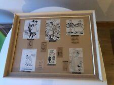 2x Frames of Original Cartoon Drawings (Hollowood, Smith, Chic, Maroc & Waite)