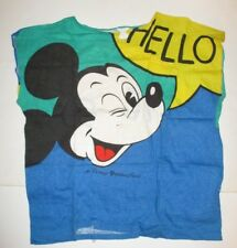 Vintage Disney 1980'S Mickey Mouse Eureka All Over Print Shirt Italy Hello Bye