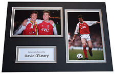 David O'Leary Signed Autograph A4 photo display Arsenal Football AFTAL Sport COA