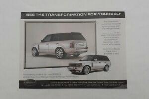 Overfinch Range Rover Advert from 2005 - Original Ad Advertisement