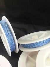 (1) Light Blue w/ White Genuine Irish Linen Single Pool Cue Wrap Spool