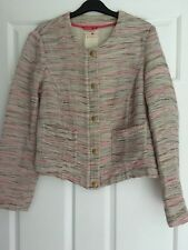 ESPRIT SHORT JACKET LIVED IN LOOK, MULTI COLOUR SIZE 12 OCCASION/SMART WEAR #946