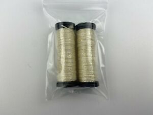 Lot Of 2 Kreinik 191 Pale Yellow #12 Tapestry Braid Thread Floss Sewing Canvas