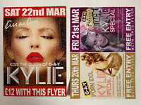 KYLIE MINOGUE (NEIGHBOURS) G-A-Y CLUB NIGHT PROMOTIONAL FLYER CARD DOUBLE-SIDED