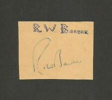 "Cricket England signature autograph of ROBERT WILLIAM ""BOB"" BARBER 1950s-60s"