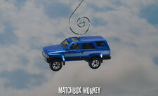 Dark Blue Toyota 4Runner Custom Christmas Ornament 1/64 Scale SUV 4 Runner Jeep