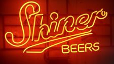 "New Shiner Beers Bar Cub Decor Real Glass Neon Light Sign 20""x16"""