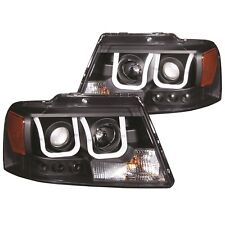 ANZO 111288 Set of 2 Black U-Bar Style Projector Headlights for 2004-08 F-150