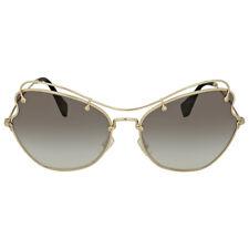 Miu Miu Grey Gradient Metal Butterfly Sunglasses