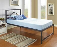 New ListingKings Brand Furniture - Black Metal Platform Day Bed Frame with Headboard, Twin