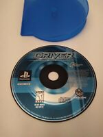 Driver 1 PS1 Sony PlayStation 1 1999 PS2 PSX Racing Car Game Blue Disc Only