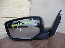 08 09 10 HONDA ACCORD 4 DR OEM BLACK DRIVER LEFT POWER HEATED SIDE VIEW MIRROR