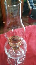 New listing Vintage Large Clear Glass Oil Lamp