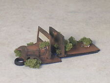 HO 1928 Black Rusted Out Model A Ford Truck with weeds, Type #2