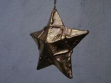 Palla di Natale albero addobbo festone decorazione STELLA oro 10.5 cm dipinta