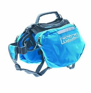 Outward Hound Quick Release Backpack Saddlebag Style Dog Backpack Small Blue