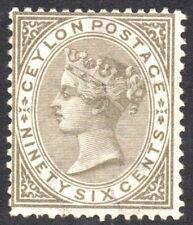 Ceylon Stamp. Victoria. 96 cents. Issued 1872.  SG. 132.  LMM. Crown CC