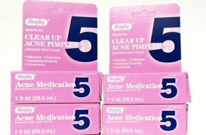 4-PACK Rugby Acne Medication 5 Benzoyl Peroxide Lotion 5% Pimple Treatment 1 oz