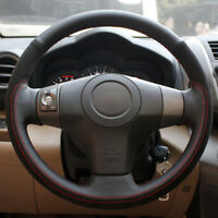 Black Leather Black Suede Car Steering Wheel Cover for Toyota Yaris/ Vios /RAV4