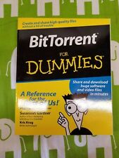 BitTorrent FOR DUMMIES by Kris Krug and Susannah Gardner, 2006, Paperback